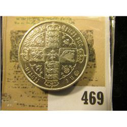 1873 Great Britain .925 fine Silver One Florin, Y8.