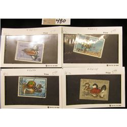 1978, 79, 80, & 81 RW45-48 Federal Migratory Waterfowl Stamp, all signed.