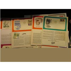 """(14) 1972-1996 First Day Covers with literature; & a 1910 Post Card from """"Continental State Bank She"""