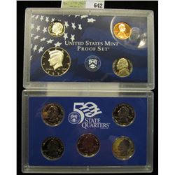 2000 S U.S. Proof Set, Original as issued. A nice attractive set with all coins exhibiting Cameo Fro