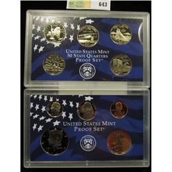 2001 S U.S. Proof Set, Original as issued. A nice attractive set with all coins exhibiting Cameo Fro