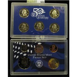 2002 S U.S. Proof Set, Original as issued. A nice attractive set with all coins exhibiting Cameo Fro
