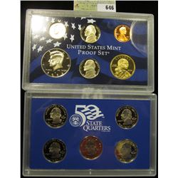 2004 S U.S. Proof Set, Original as issued. A nice attractive set with all coins exhibiting Cameo Fro