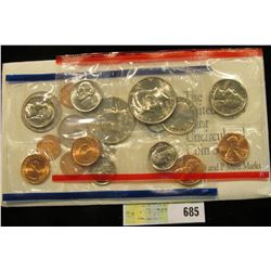 1992 U.S. Mint Set. Original as issued. U.S. Mint issue price was $7.00.