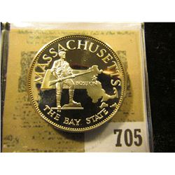 """""""Massachusetts The Bay State""""  So-called Half-Dollar. Superb Sterling Silver Proof, 32mm, 13.62 grms"""