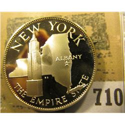 """""""New York the Empire State"""" So-called Half-Dollar. Superb Sterling Silver Proof, 32mm, 14 grms."""