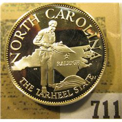 """""""South Carolina the Tarheel State"""" So-called Half-Dollar. Superb Sterling Silver Proof, 32mm, 13.55"""