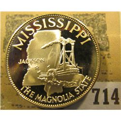 """""""Mississippi the Magnolia State so-called Half-Dollar. Superb Sterling Silver Proof, 32mm, 13.60 gra"""