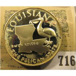"""""""Louisiana the Pelican State"""" So-called Half-Dollar. Superb Sterling Silver Proof, 32mm, 13.46 grams"""