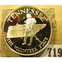 """""""Tennessee the Volunteer State"""" So-called Half-Dollar. Superb Sterling Silver Proof, 32mm, 13.74 gra"""