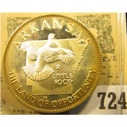"""""""Arkansas the Land of Opportunity"""" So-called Half-Dollar. Superb Sterling Silver Proof, 32mm, 14.36"""