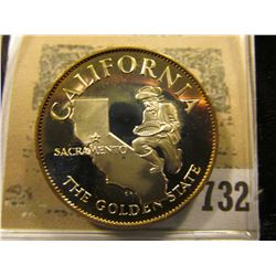"""""""California the Golden State"""" So-called Half-Dollar. Superb Sterling Silver Proof, 32mm, 14.78 grams"""