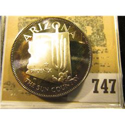 """""""Arizona the Sun Country"""" So-called Half-Dollar. Superbly toned Sterling Silver Proof, 32mm, 14.49 g"""