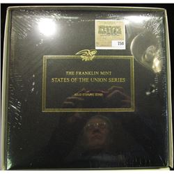 """Leather Bound """"The Franklin Mint States of the Union"""" Album with eising glass sleeves and an illustr"""