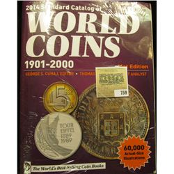 """2014 """"Standard Catalog of World Coins 1901-2000"""" 41st Edition. Hundreds of pages of valuable informa"""