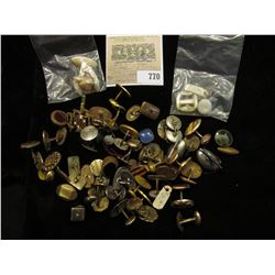 Large batch of old antique Cuff-links including Gold-filled and Mother-of-Pearl.