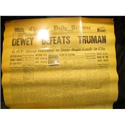 (2) Original Issues of the Great Event that never happened.  Chicago Daily Tribune Wednesday, Novemb
