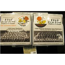 """209 of 500 """"Commemorative 1957 Rose Bowl Button Reissue 50th Anniversary Edition"""" & 1959 Rose Bowl B"""