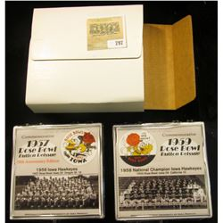 """212 of 500 """"Commemorative 1957 Rose Bowl Button Reissue 50th Anniversary Edition"""" & 1959 Rose Bowl B"""
