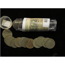 """Roll of (40) Mixed Date Liberty Head """"V"""" Nickels."""