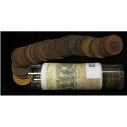 Roll of (50) Mixed Date and Grade Indian Head Cents.