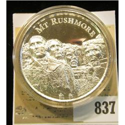"""""""Mt. Rushmore"""", """"American Landmarks 2 oz. .999 Fine Silver"""", Proof, High-relief, encapsulated."""