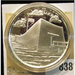 """""""Pearl Harbor"""", """"American Landmarks 2 oz. .999 Fine Silver"""", Proof, High-relief, encapsulated."""