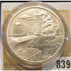 """2015 """"Welcome to Silverbug Island 1 Troy oz..999 Fine Silver"""" Obv. depicts a Pirate Ship, Treasure C"""