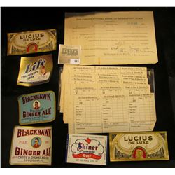 "A group of Pre-prohibition order forms for Beer from ""Carse & Ohlweiler Co.""; June 22, 1926 Collater"