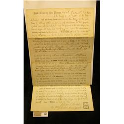 June 21st, 1855 Promissory Note for Four Thousand Dollars from Scott County, Iowa used to purchase 1