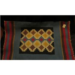 "16"" x 26"" Native American Indian Woven Rug. Doc had this valued at $195 in his collection."