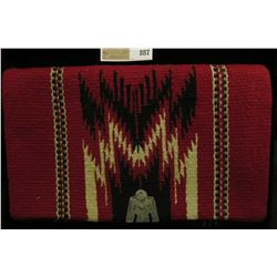 """Chimayo (Indian) Purse Hand Woven Hand Tailored"", Fold-over clutch with Sterling Silver thunderbird"