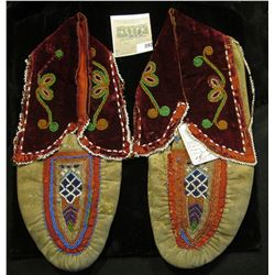 Indian Beaded Moccasins. 19th Century. (Doc valued at $525 in his collection)