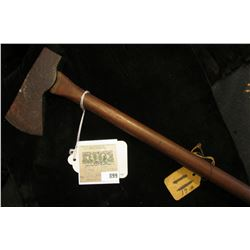 """Indian Tomahawk from Mound in Rockingham, Virginia. Celt type handle. (Doc couldn't make up his min"
