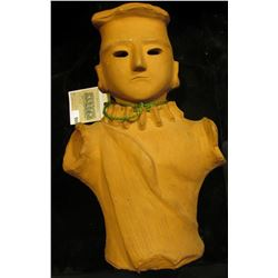 "Doc has this 11"" in height Terra Cotta Effigy Bust labeled that it was from China. He valued it at $"