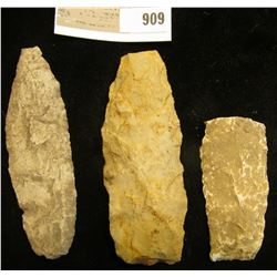 Three Flint Native American Artifacts found in Scotland County, Mo. by Aaron Camp.