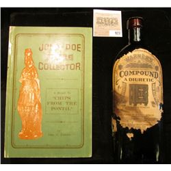 "Amber Bottle with stopper (contents will be emptied if shipped) ""Warner's Compound A Diuretic Concen"