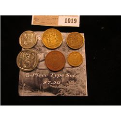 1019 _ Six-Piece Type Set of South Africa Coins.