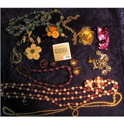1026 _ Large Group of Costume Jewelry from the 1950 era.