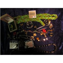 1027 _ Large Group of Costume Jewelry including some Boy Scout and or Cub Scout Pins and etc.