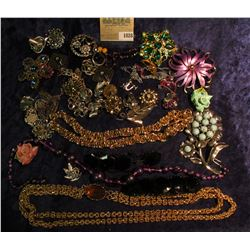 1028 _ Large Group of Costume Jewelry from the 1950 era.