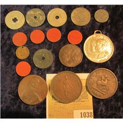 1038 _ Small Group of Tax Tokens, and some early Canadian Tokens & Medals.