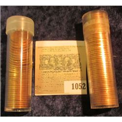 1052 _ Solid date roll of 1964 P Cents, BU;  & (33) BU 1955 P Wheat Cents.