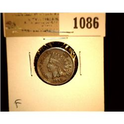 1086 _ 1862 Indian Head Cent. Fine.