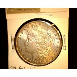 1105 _ 1896 P Morgan Silver Dollar, Choice BU 63