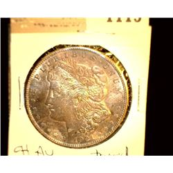 1115 _ 1921 S Morgan Silver Dollar, CH AU, toned.