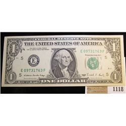 1118 _ Series 1988 $1 Richmond Federal Reserve Note, Choice CU.