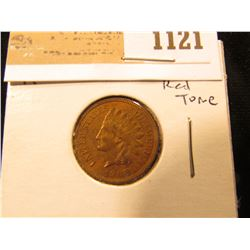 1121 _ 1908 Indian Head Cent, Red-Brown Uncirculated.