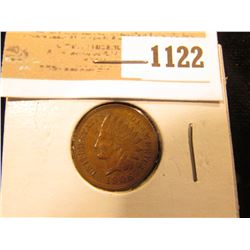 1122 _ 1906  Indian Head Cent, Brown AU.