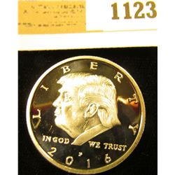 1123 _ 2016 P Donald Trump Silver Medal, Proof, 30mm.